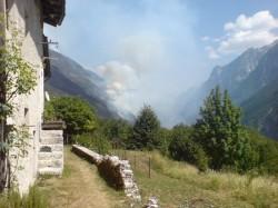 Incendio Boshivo  nel Val Raccolana 6 August 2014
