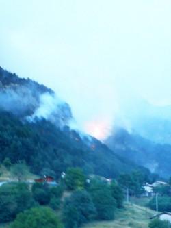 Incendio sul Sbrici 4 Aogosto 2013
